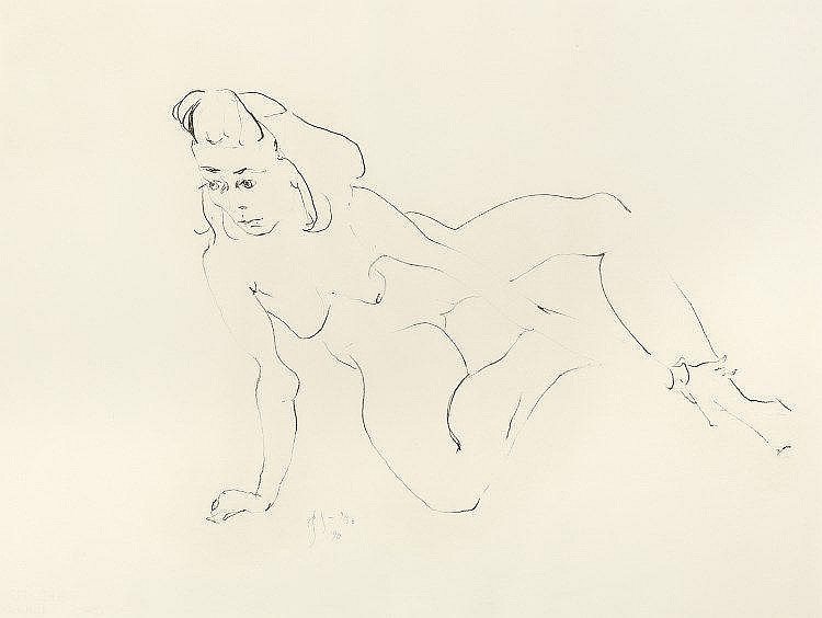 'Restling Nude'