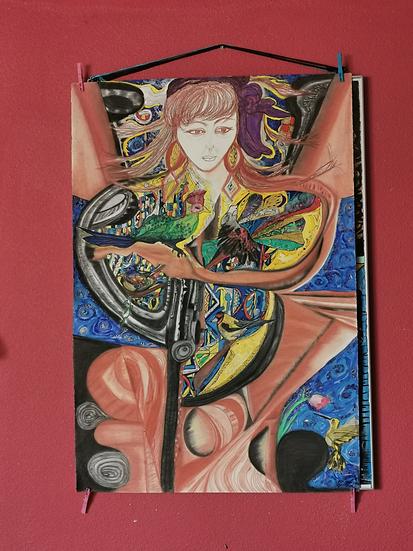 FEMME ET LA PAIX - Saba Coquillard art