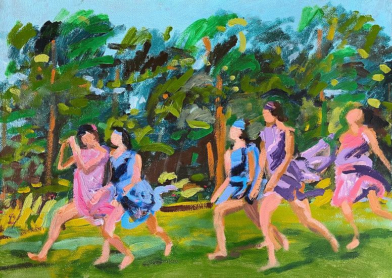 DANCING FIGURES IN A FIELD II - David Paul