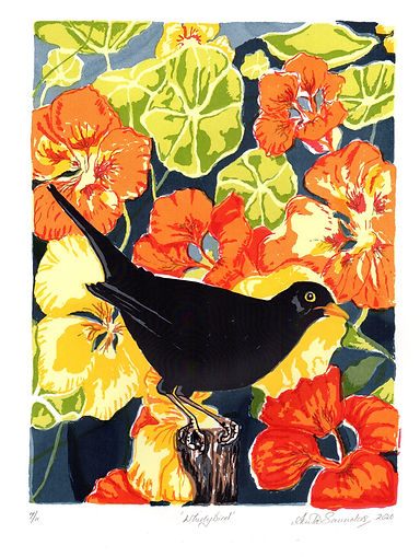 A Saunders Whirly Bird screen print Imag