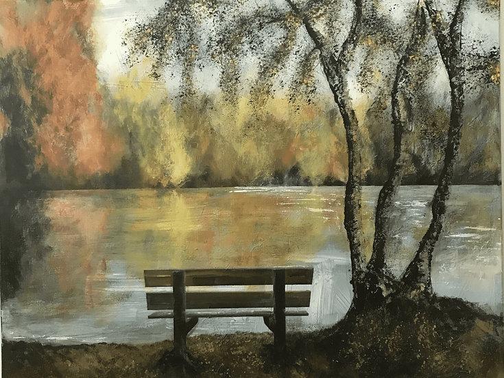 AN AUTUMNAL SCENE OF A PARK - Rachel Ashworth-Jerem