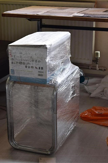 WRAPPED TABLE AND BOX - David Goldenberg