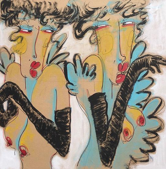 TWO GIRLS- Christian Dubreuil