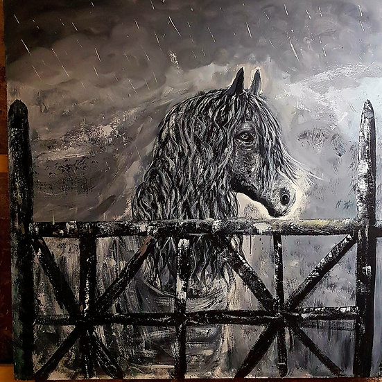 HORSE BEHIND FENCE - Janet Jackson