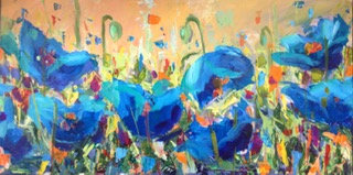 BLUE POPPIES 1  - Kelly Leonard