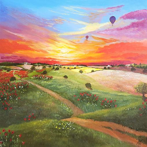Summer_Ballons_Acrylic_Black_Frame_2014_
