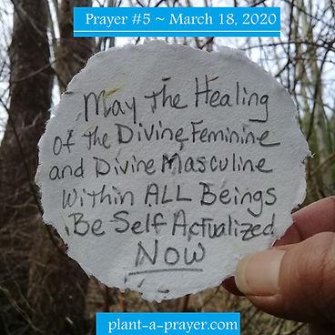 Prayer #5~ March 18, 2020