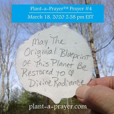 Prayer #4 ~ March 18, 2020