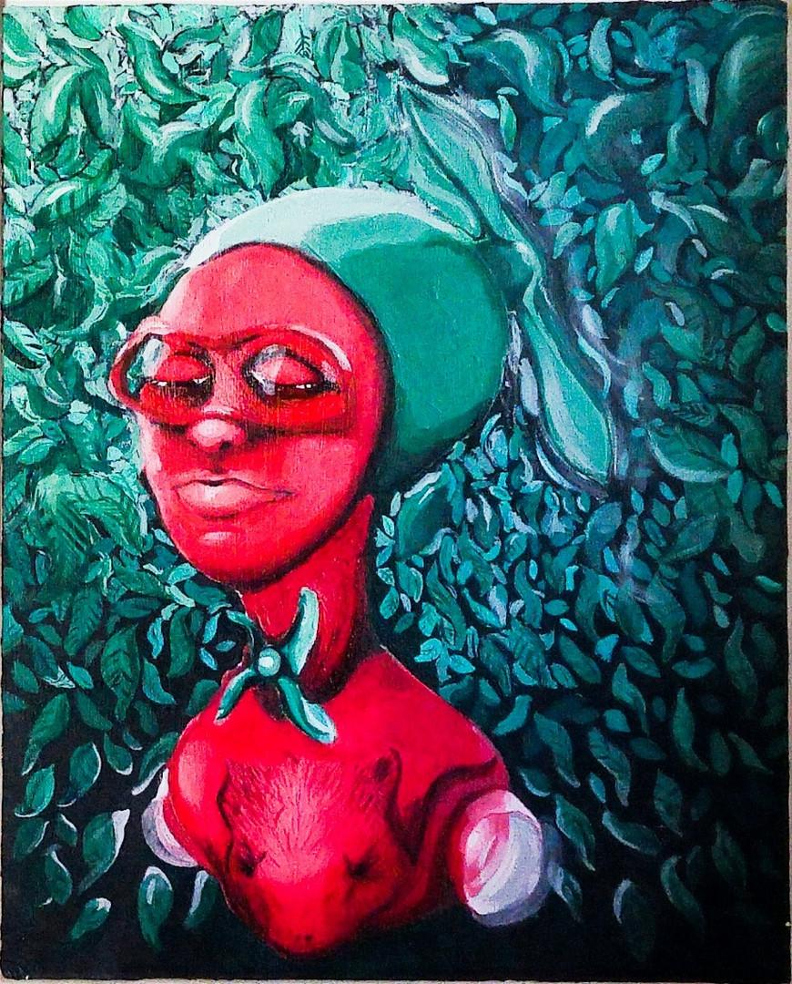 acrylic on canvas board 20 x 16 inch