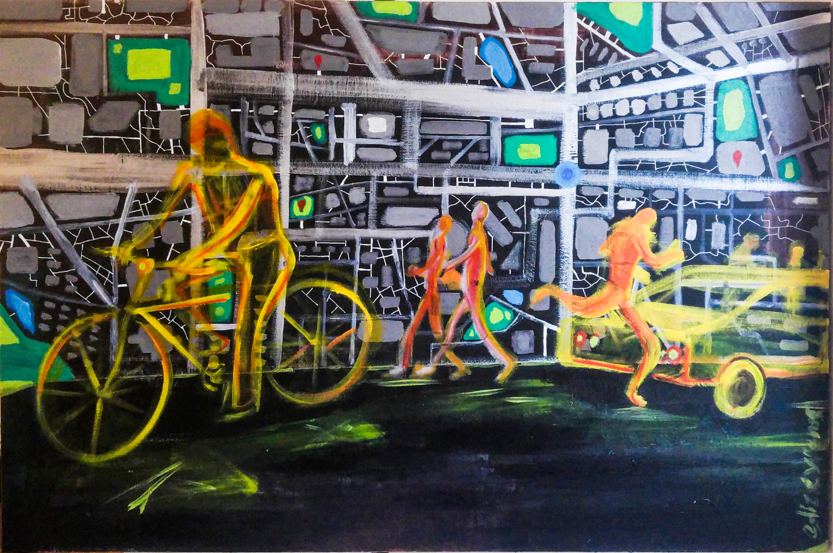 acrylic on canvas 24 x 36 inches