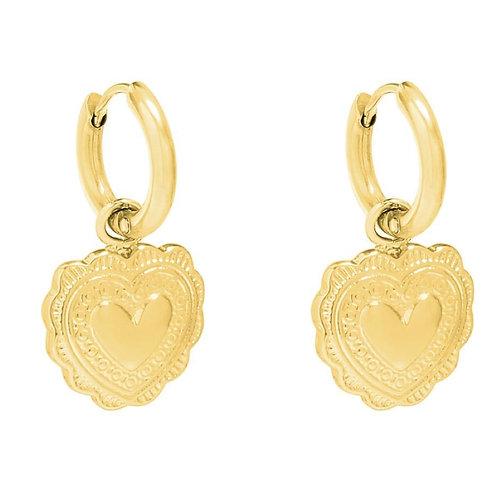 Earrings flora heart