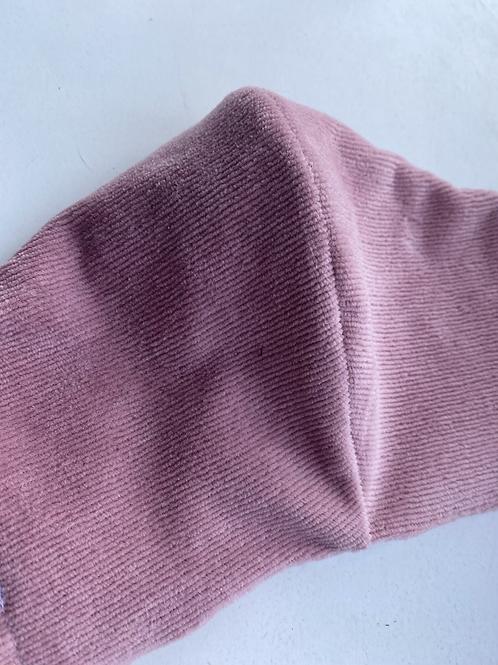 Mondkap Roze Ribbel met filter/wasbaar