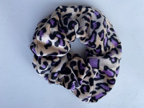 Scrunchie panter paars