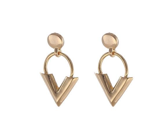 Earrings sweet V