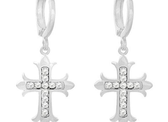 Earrings holy cross