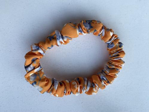 Scrunchie klein oranje