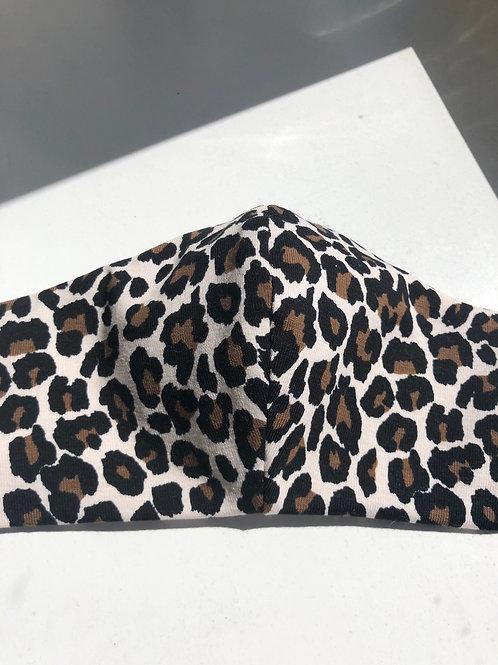 Mondkapje Panter bruin met filter / wasbaar