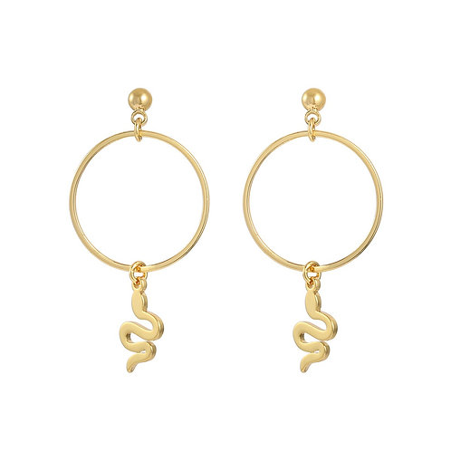 Earrings snake around
