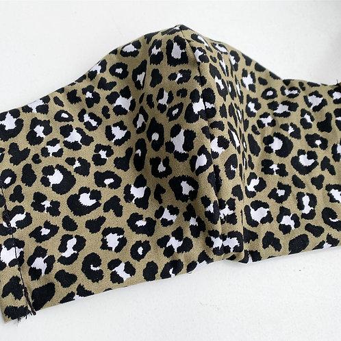 Mondkap Panter Olijf met filter/wasbaar