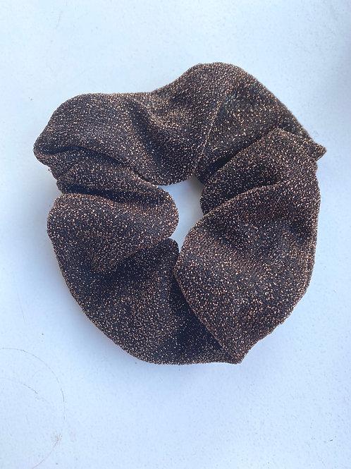 Scrunchie Glitter brons