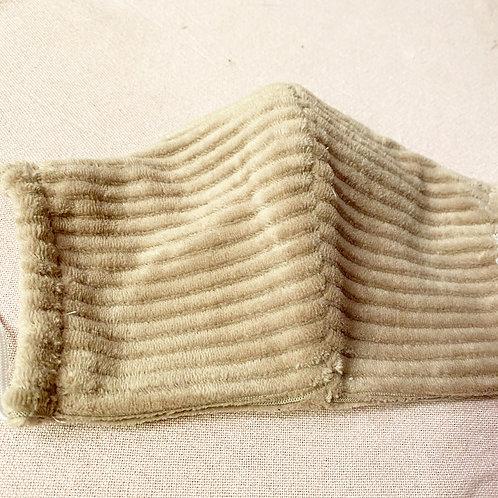 Mondkap Zandkleurig Ribbel met filter/wasbaar