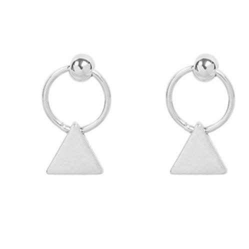 Earrings mini triangles