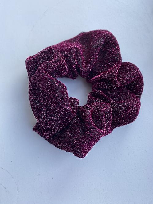 Scrunchie paars glitter