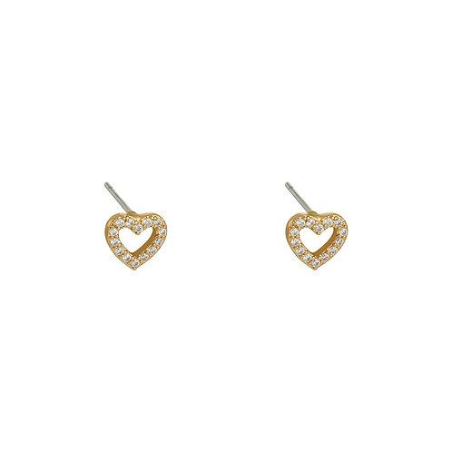 Earrings mini heart
