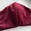 Thumbnail: Mondkap luxe fluwelen bordeauxrode met filter/wasbaar