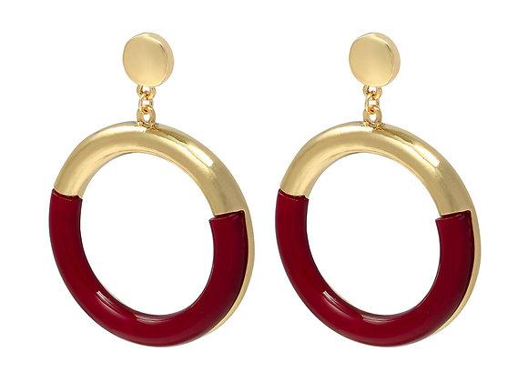 Earrings colorful hoops