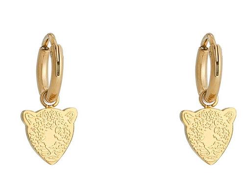 Earrings famous leopard