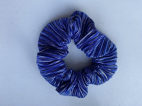 Scrunchie blauw/wit