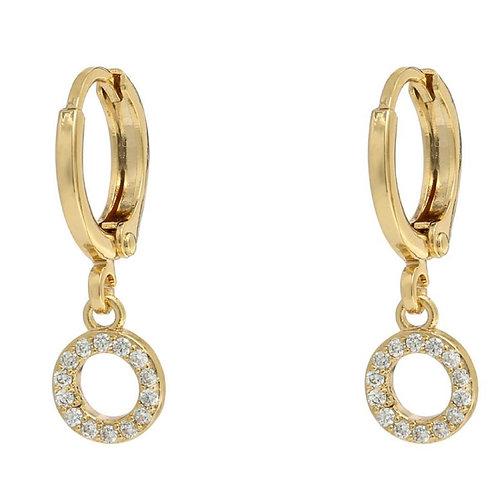 Earrings sparkling circle