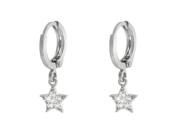 Earrings sparkle star