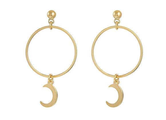Earrings Around the moon