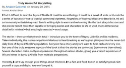 Amazon Review for Bayou L'Abeille