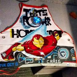 Ironman on Home Depot Apron