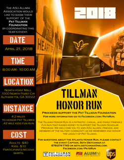 The Pat Tillman Honor Run Flyer