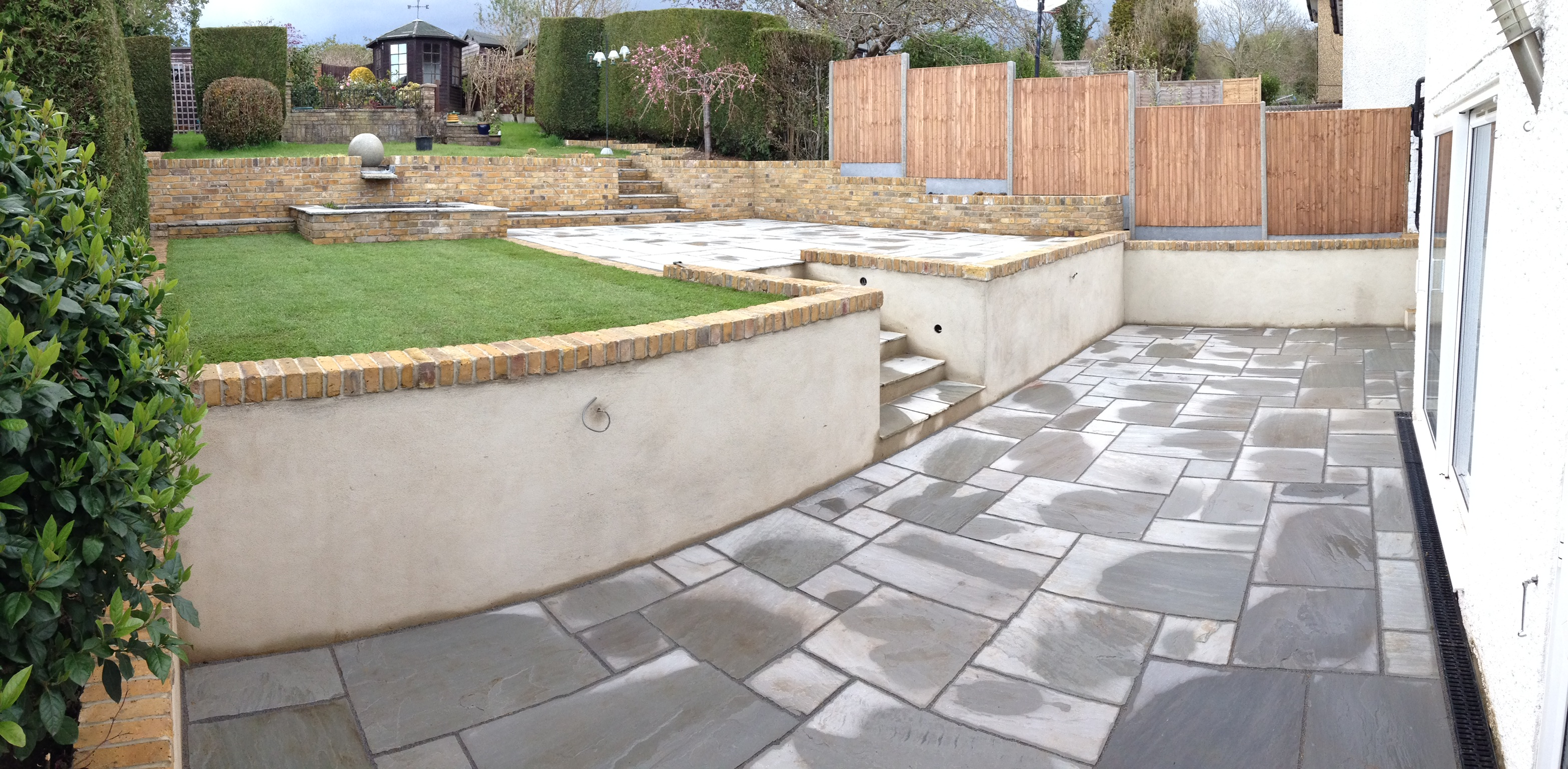 Grey Sandstone with new walling