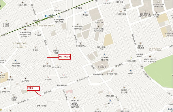 gangnam club map