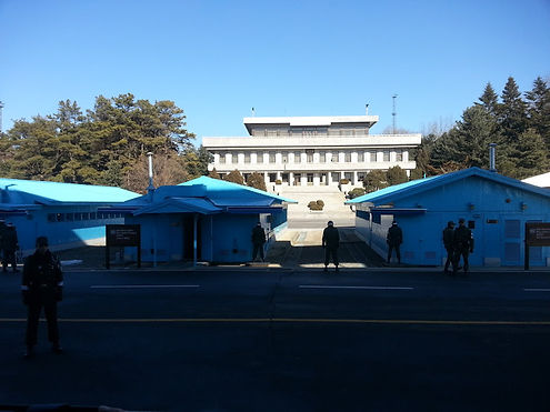 jsa(panmunjeom) at border of south&north korea