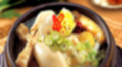 korean food : samgyetang(gingsen chichen soup)