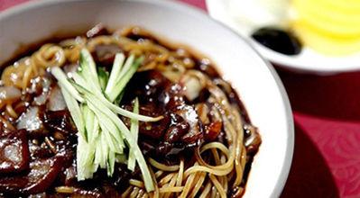 korean food : jjajangmyeon : black noodle