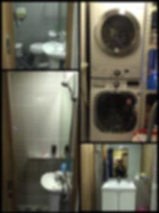 backpackers washing/dryer machine & shower room