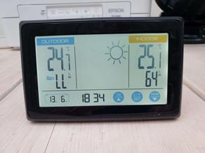 令和3年6月13日(日)のガーデンルーム気温情報です。神奈川県相模原市南区