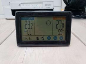令和3年6月14日(月)のガーデンルーム気温情報です。神奈川県相模原市南区