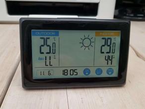 令和3年6月11日(金)のガーデンルーム気温情報です。神奈川県相模原市南区