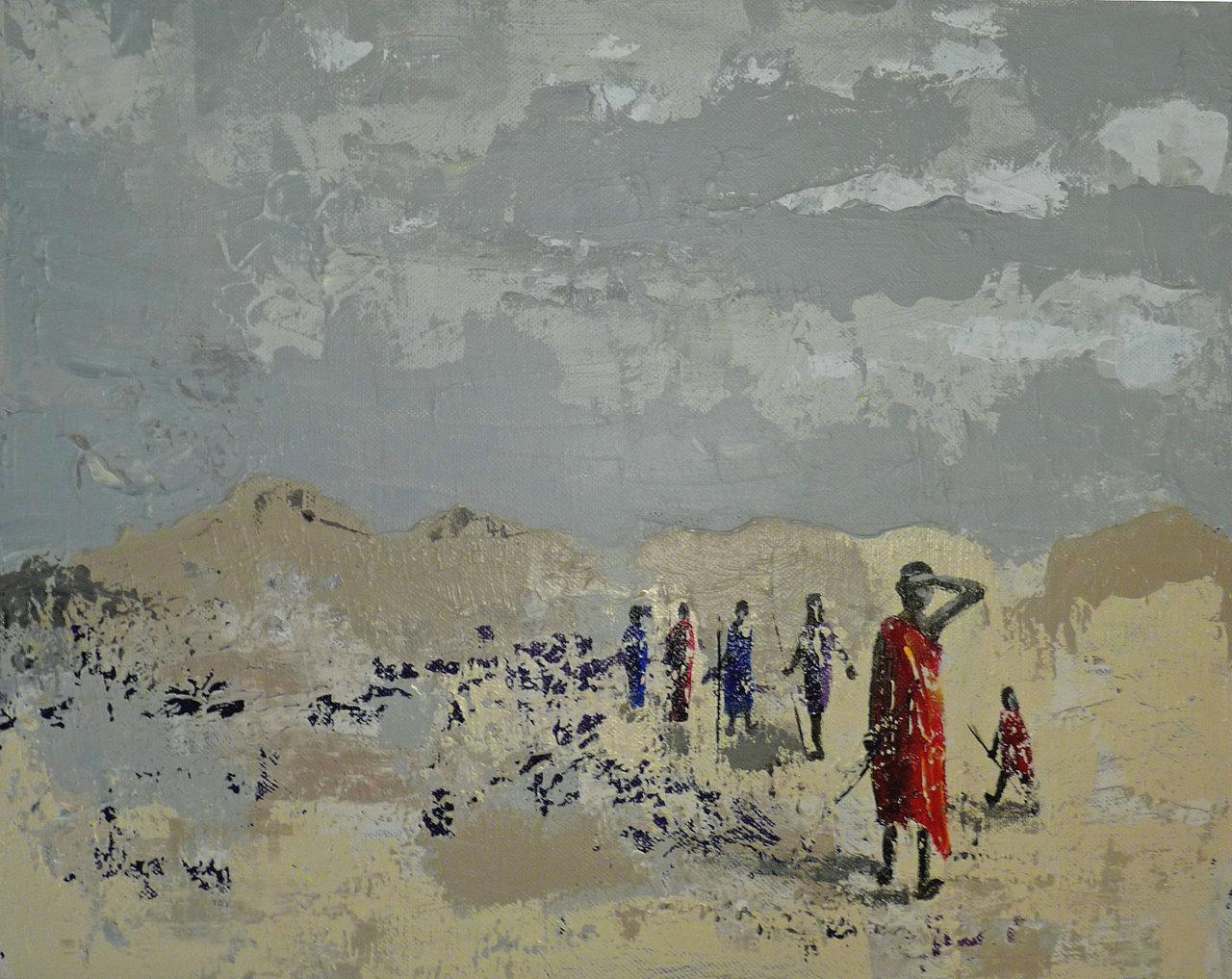 Promenade dans le désert- Vendu-