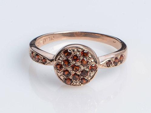 Garnet Disc Ring