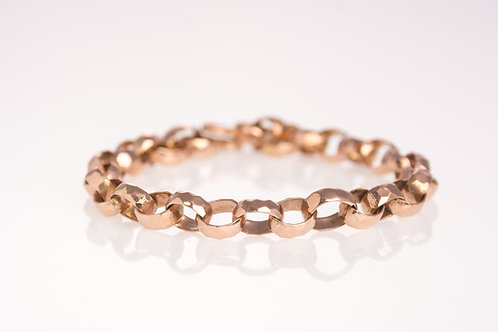 Angular Cable Rose Gold Bracelet